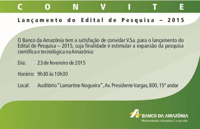 Edital Pesquisa 2015