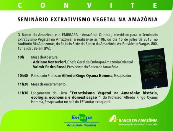 Convite lançamento Extrat Vegetal EMBRAPA