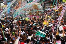 Círio de Nazaré, considerada a maior procissão religiosa do Brasil. Milhares de promesseiros e devotos acompanham a procisão ultrapassando 1 milhão de pessoas. Belém, Pará, Brasil Foto Ney Marcondes / Acervo H