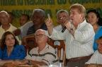 Sebastião Rodrigues de Moura, o Major Curió, fala durante assembléia de unificação dos garimpeiros de Serra Pelada. Curionópolis, Pará, Brasil. Foto Paulo Santos/Acervo H 18/12/2005