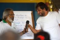 Pedro Lion do MMA (direita) discute com a comunidade formas de apoio ao Protocolo Comunitário Foto Paulo Santos 09/2016