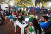 Participantes entram pela noite para vencer a agenda do VIII Encontrão. Foto Paulo Santos 15/09/2016