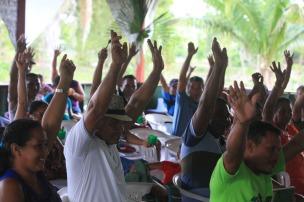 Representates das comunidades votam durante o VIII Encontrão. Foto Paulo Santos Setembro de 2016