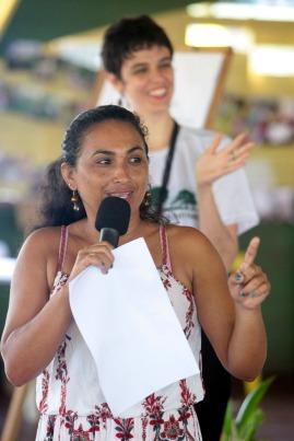 Diana Araújo, eleita presidente da Associação Escola Família do Bailique Foto Paulo Santos