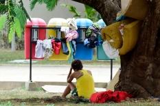 Cerca de 300 venezuelanos estao acampados na praca Simon Bolivar, zona Sul de Boa Vista, capital de Roraima. De acordo com dados da prefeitura, 40 mil imigrantes estao vivendo na cidade, representando mais de 10% de sua populacao de 330.000 habitantes. ©Jorge Macedo 13/02/2018